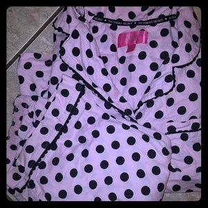Victoria's Secret pink and black pajama set